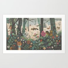 The First Snow Art Print