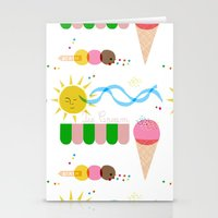 Ice Cream Summer Stationery Cards