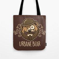 Urbane Bear Tote Bag
