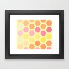 Honeycomb Framed Art Print