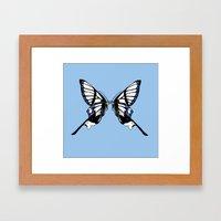 Mirror Butterfly Framed Art Print