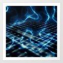 blue Energy Art Print