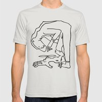 Bear Man To The Rescue Mens Fitted Tee Silver SMALL