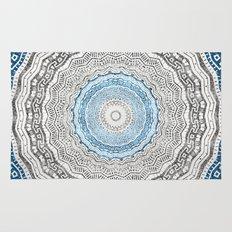 Geometric Mandala with Glitters Rug