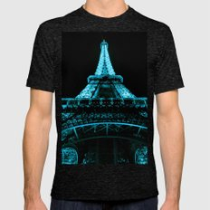 Paris Eiffel Tower Mens Fitted Tee Tri-Black SMALL