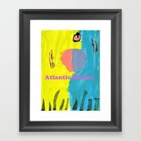 Atlantic Hearts Framed Art Print