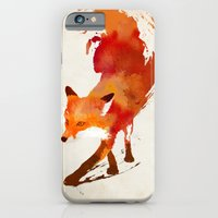 illustration iPhone & iPod Cases featuring Vulpes vulpes by Robert Farkas