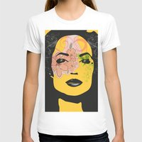 Mysterious Woman 1 Womens Fitted Tee White SMALL