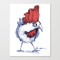 Irregular Chicken Canvas Print