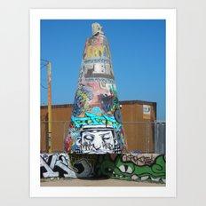 Graffiti on Venice Beach Art Print