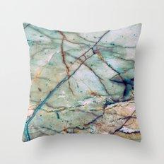 Azul Macaubas Marble Throw Pillow