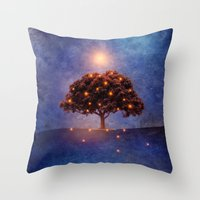 Energy & Lights Throw Pillow