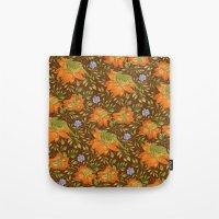 Green bird pattern Tote Bag