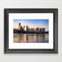 That Portland Skyline 2 Framed Art Print