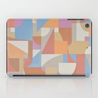 1 Inch Manila Grid iPad Case