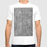 Stockinette Black Mens Fitted Tee White SMALL