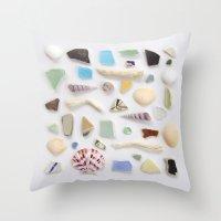 Ocean Study No. 2 Throw Pillow