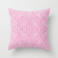 Ab Lace Pink Throw Pillow