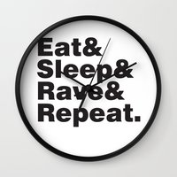 Eat & Sleep & Rave & Rep… Wall Clock