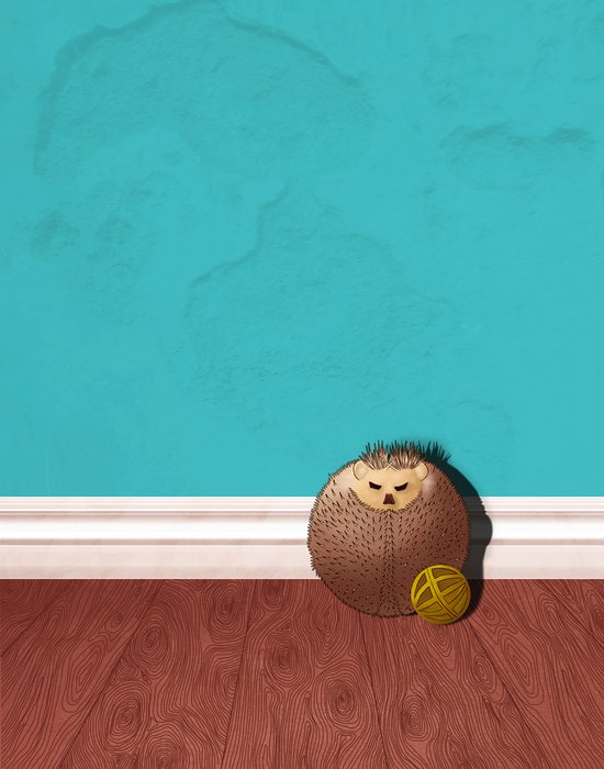 Grumpy Hedgehog Art Print