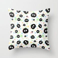 Soot Sprite With Stars Throw Pillow