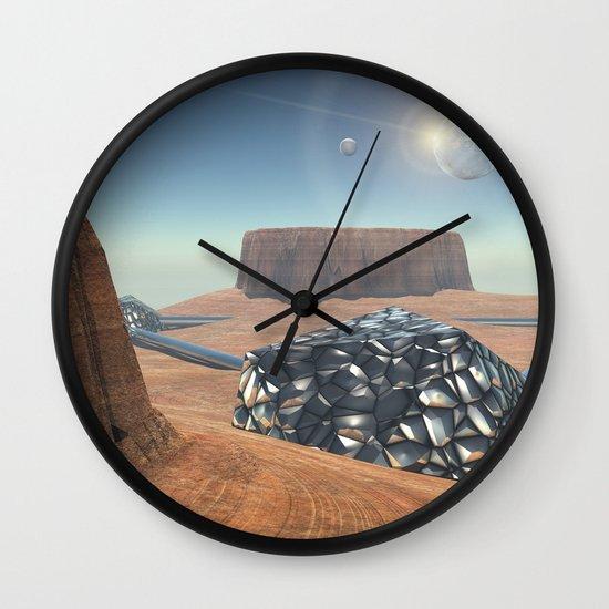Mars Babylon Colony, view of Armageddon  Wall Clock
