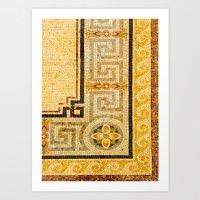 Mosaic Floor Art Print