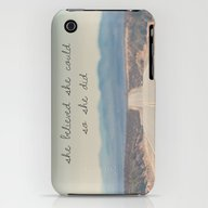 She Believed She Could S… iPhone (3g, 3gs) Slim Case