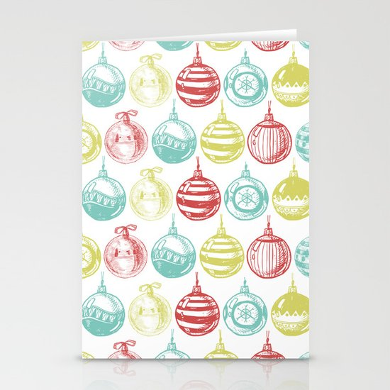 Baubles Stationery Card