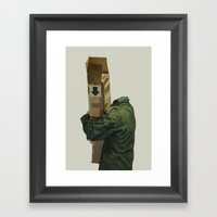 you're holding it wrong Framed Art Print