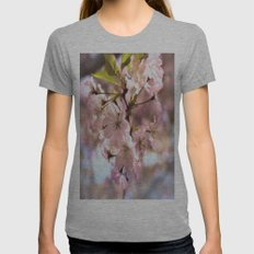 Spring Blossoms Womens Fitted Tee Athletic Grey SMALL