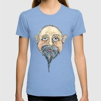 old man 2 Womens Fitted Tee Tri-Blue SMALL