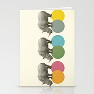 Rambling Rhinos Stationery Cards