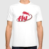 Flying Pig Mens Fitted Tee White SMALL