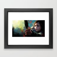 Framed Art Print featuring The Last Of Us: Ellie by Kate Dunn