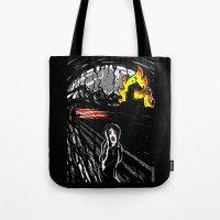 Black Scream Tote Bag