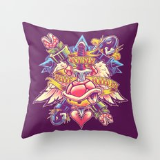 BOWSER NEVER LOVED ME Throw Pillow