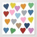 Hearts Colour Canvas Print