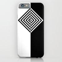 Black and White Concentric Diamonds iPhone 6 Slim Case