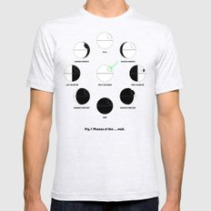 That's No Moon Phases SMALL Ash Grey Mens Fitted Tee