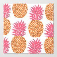 Pattern of Pineapple Canvas Print