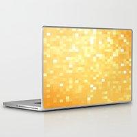 pixel Laptop & iPad Skins featuring Golden pixeLs by 2sweet4words Designs