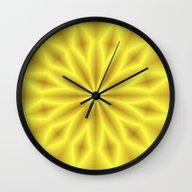 Bright Yellow Star Wall Clock