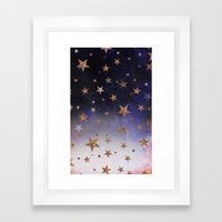 Star Clouds Framed Art Print