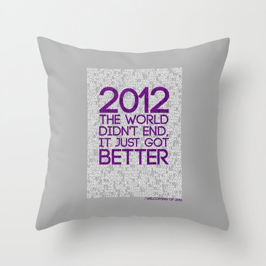 2012...It Was Emotional Throw Pillow