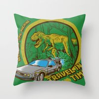 Travel in Time Throw Pillow