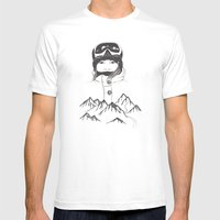 Mountain Girl Mens Fitted Tee White SMALL