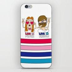 LOVEISPEACE&FREEDOM iPhone & iPod Skin