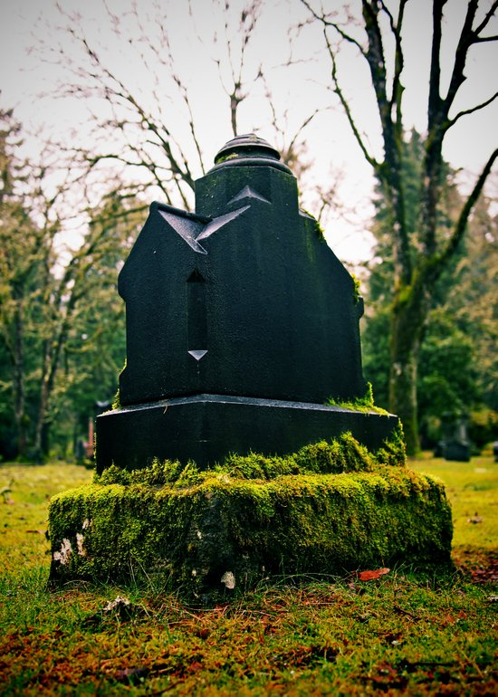 Graveyard green Art Print
