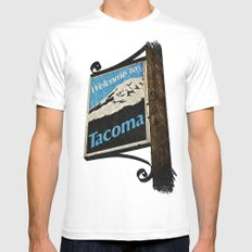 Welcome to Tacoma Mens Fitted Tee White SMALL